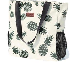 Floral Water Resistant Large Tote Bag